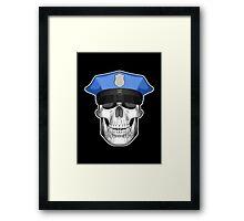 Police Skull 2 Framed Print
