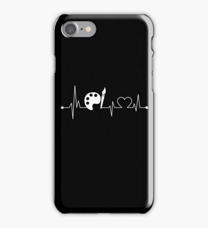 Heartbeat Hobby Painting iPhone Case/Skin