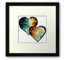 Watercolor Hearts Framed Print