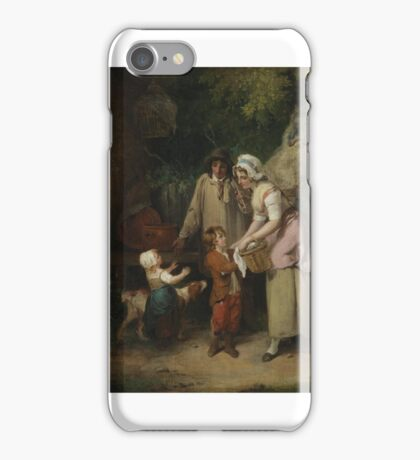 Francis Wheatley English  Return from the Market,  iPhone Case/Skin