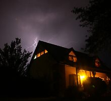 Spooky Lightning House by Stuart Daddow Photography