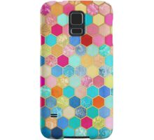 Patterned Honeycomb Patchwork in Jewel Colors Samsung Galaxy Case/Skin