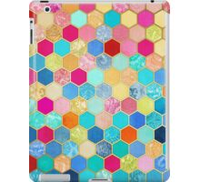 Patterned Honeycomb Patchwork in Jewel Colors iPad Case/Skin