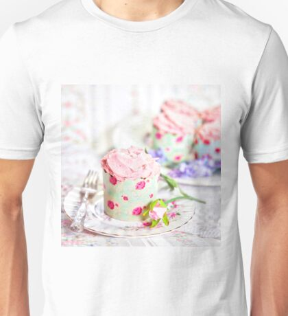 Pretty Pink Cup Cakes Unisex T-Shirt