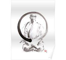 Enso circle original painting, japanese ideas for men Poster