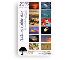 2015 Caribbean Nature Calendar cover Canvas Print
