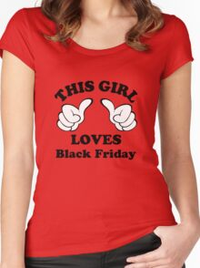 This Girl Loves Black Friday Women's Fitted Scoop T-Shirt