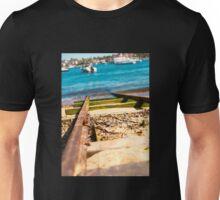 Blue Train Tracks | Greenwich Baths Unisex T-Shirt