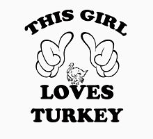 This Girl Loves Turkey Womens Fitted T-Shirt