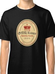 GNU Linux Operating System Free Software Free Society Classic T-Shirt