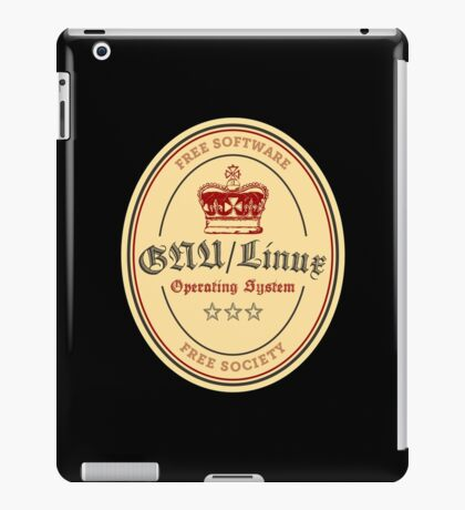 GNU Linux Operating System Free Software Free Society iPad Case/Skin