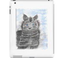 Lonely Kitty-Miss you! iPad Case/Skin