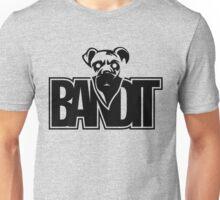 Bandit Funny Masked Dog Black Unisex T-Shirt