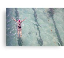 Bondi Swimmer Canvas Print