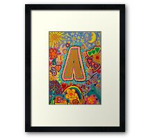 Initial A Framed Print