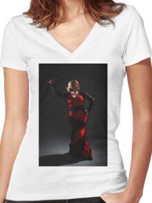 Flamenco Women's Fitted V-Neck T-Shirt