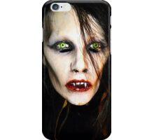 Woman Vampire Mask iPhone Case/Skin