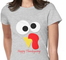 Happy Thanksgiving Womens Fitted T-Shirt