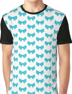 Turquoise Bow Graphic T-Shirt