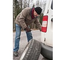 Flat Tire Photographic Print