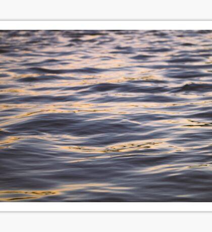 Ocean River Waves Sunset Sticker