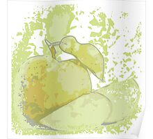 guava picture in water color theme Poster