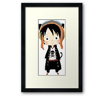 Luffy Fanart Googles Framed Print