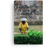 Umbrella Hat Canvas Print