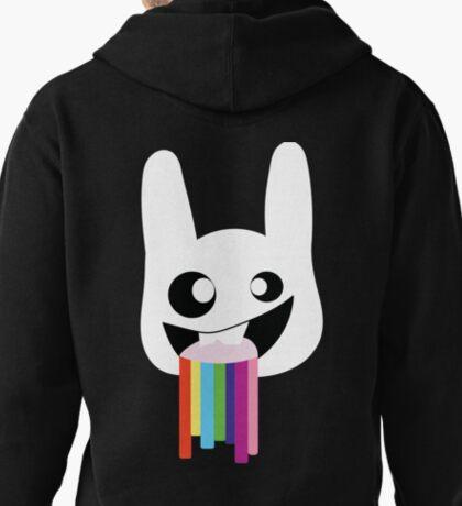 Rainbow vomit rabit Pullover Hoodie