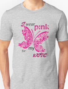 I Wear Pink For My Wife Unisex T-Shirt