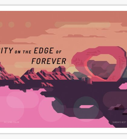 The City on the Edge of Forever Sticker