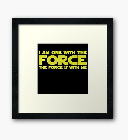 Force Chant Framed Print
