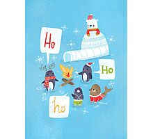 Penguins & Igloos Holiday Card Photographic Print