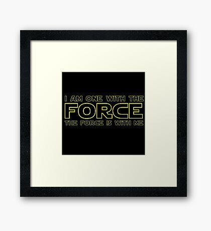 Force Chant - 2 Framed Print