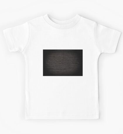 Black knitted fabric texture  Kids Tee