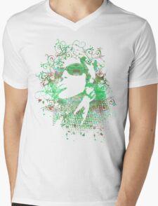 Green Girl Mens V-Neck T-Shirt