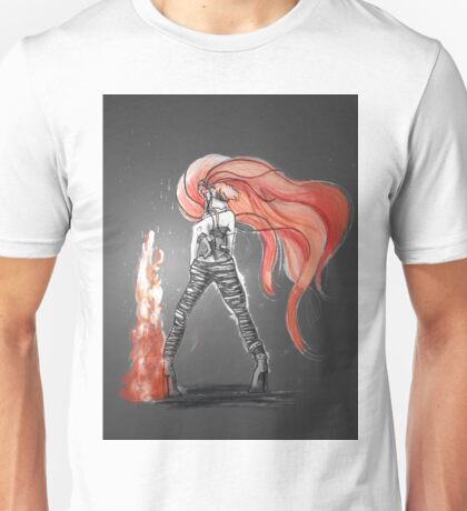 Rainbow Punk: Flame Funk Unisex T-Shirt