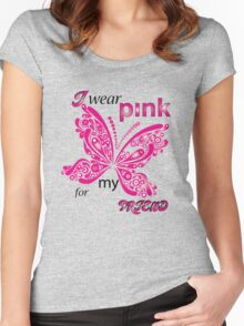 I Wear Pink For My Friend Women's Fitted Scoop T-Shirt
