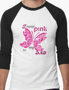 I Wear Pink For My Dad Men's Baseball ¾ T-Shirt