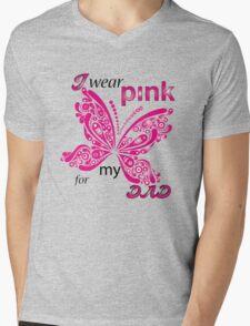 I Wear Pink For My Dad Mens V-Neck T-Shirt