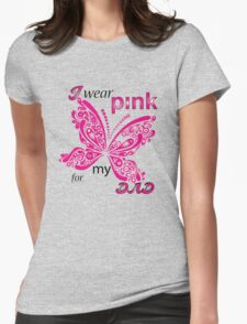 I Wear Pink For My Dad Womens Fitted T-Shirt