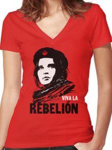 Viva la Rebelion Women's Fitted V-Neck T-Shirt