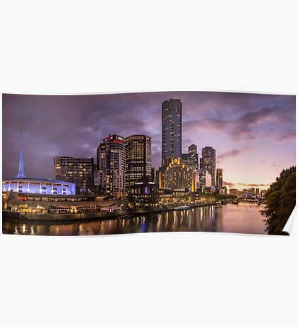 Melbourne Southbank at Sunset Poster