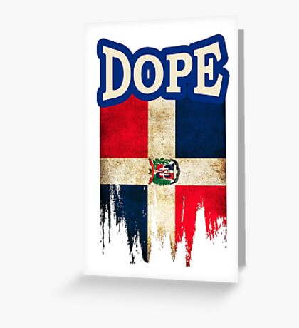 Dominican Flag Greeting Card