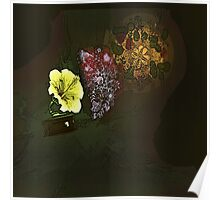 A steampunk record player-flower Poster