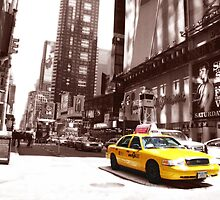 New York Taxi by Kirsten Thompson