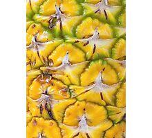 Macro textured background of pineapple Photographic Print