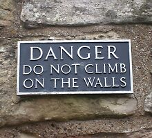 Danger do not climb on the walls by Louise Ebrey Hill