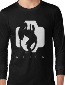 Alien Silhouette  Long Sleeve T-Shirt