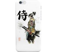 Samurai sumi/watercolor with calligraphy iPhone Case/Skin